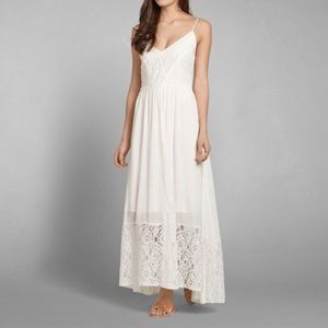 Abercrombie Lace Maxi Dress, Navy XS